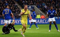 Harry Kane opens the scoring in 1 st minute away to Leicester 26/12/14. Spurs won 2-1.