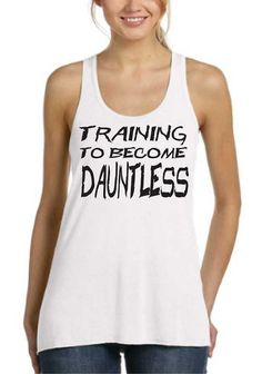 Training To Become Dauntless Ladies FLowy Tank Top Workout Gym Running Fitness Yoga Exercise Hike Hiking Running Sweating