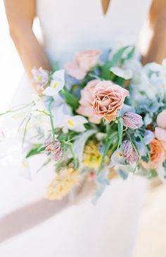 Soft & Summery Cliffside Bridal Inspiration - Inspired By This
