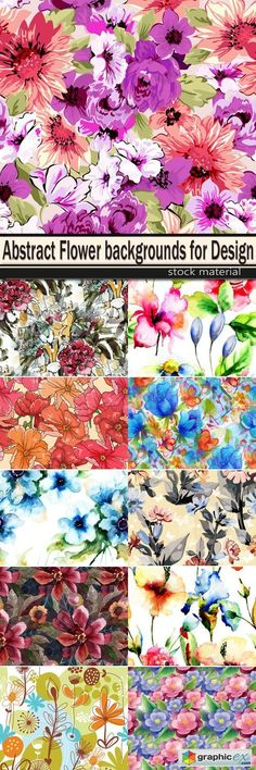 Abstract Flower backgrounds for Design  stock images