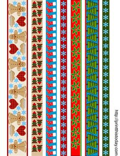 487 Free Christmas Borders You Can Download and Print: Christmas Washi Tape from Print This Today