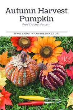Crochet Fall Decor, Crochet Decoration, Crochet Home, Crochet Gifts, Autumn Crochet, Free Crochet, Crochet Pumpkin Pattern, Halloween Crochet Patterns, Modern Crochet Patterns