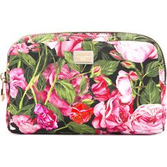 Dolce & Gabbana rose print make-up bag found on Polyvore featuring beauty products, beauty accessories, bags & cases, makeup purse, makeup bag case, travel toiletry case, travel bag and make up bag
