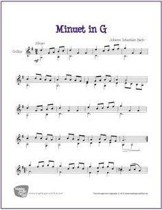 Minuet in G   Free Sheet Music for Classical Guitar (Scheduled via TrafficWonker.com)