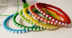 Multicolors pearl bangles