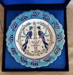Turkish selcuk handmade dishes bird pattern by nurceramicarts