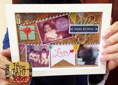 DIY Birthday Frame, DIY Birthday Card, DIY BIrthday Gift