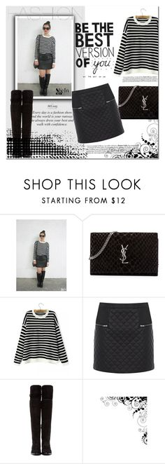 """""""Untitled #349"""" by katienochvay ❤ liked on Polyvore featuring moda, Yves Saint Laurent, Warehouse y Dolce&Gabbana"""