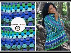 A crochet hexagon that turns into a cardigan Crochet Poncho Patterns, Crochet Coat, Crochet Jacket, Crochet Cardigan, Love Crochet, Crochet Clothes, Easy Crochet, Crochet Videos, Loom Knitting