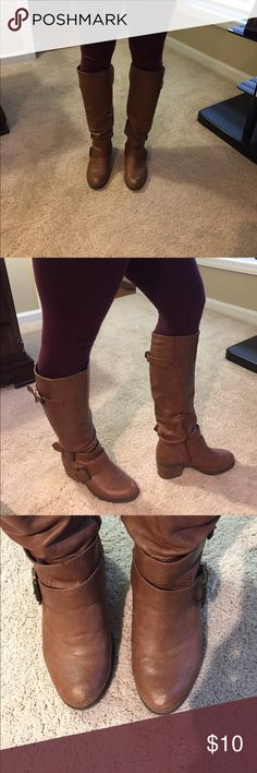 MAKE OFFER! Brown, riding boots! Great condition, small scuff on toes. Looks very cute! Shoes