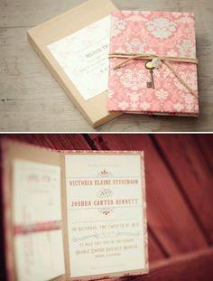Pretty pink wedding invites