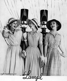 1959. For a proper lunch of giggling with girlfriends after lunch & shopping & a martini too many.
