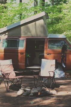 This is how we camped growing up. Exact same camper and color.