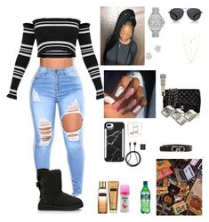 """Tue.12/26/17 going shopping "" by aleciadowdemll ❤ liked on Polyvore featuring beauty, Happy Plugs, Michael Kors, LuMee, Victoria's Secret, Lucky Brand, Bloomingdale's, UGG, Chanel and PhunkeeTree"