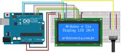 Como usar display LCD com Arduino Diy Electronics, Electronics Projects, Arduino Display, Arduino Motor, Electrical Projects, Circuit Diagram, Arduino Projects, How To Apply, Cnc