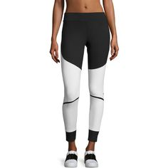 Adidas By Stella Mccartney Train Compression Tights ($85) ❤ liked on Polyvore featuring activewear, activewear pants, women's apparel leggings, adidas activewear, adidas and adidas sportswear