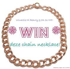 Win een schakelketting!  Het blog Hi beauty geeft een van onze schakelkettingen weg. Doe mee en kijk hier voor de voorwaarden: http://www.hibeauty.nl/2013/02/winactie-rose-gouden-schakel-ketting.html#more
