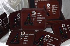 DELUXE A COMPLETE SET of major chakra by DAWNaffirmationBoxes. #Chakra_Plaques #spiritual_Plaques #plaques #healing #chakra_healing #major_chakras