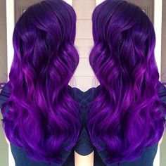 Beautiful purple waves by @amandahair3ypotterhead #love #hairaddiction #beauty #purplehair
