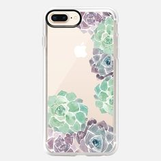 Casetify iPhone 8 Plus Classic Grip Case - Sweet Succulents Case by Wonder Forest by wonder forest