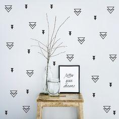 Triangle wall decal / Wall stickers / Nursery wall by StudioPicco