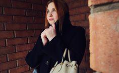 Mackage asymmetrical wool coat & bag Wool Coat, Fall 2015, Blazer, Bag, Women, Fashion, Purse, Moda, Women's