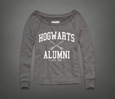 Women Lady Hogwarts Alumni sweatshirt Slouchy by Piano2015 on Etsy