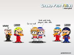 formula one cartoon images | Continental Circus: Formula 1 em Cartoons: A fauna do Grande Prémio ...