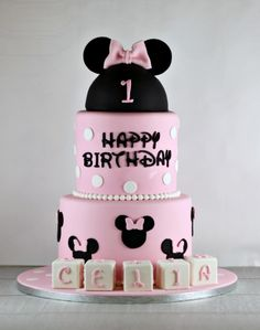 Minnie Mouse First Birthday Cake | Lil Miss Cakes