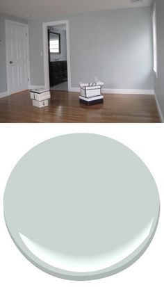 PALE SMOKE Benjamin Moore - this is the perfect color for my living room!! Just gotta convince the boyfriend..