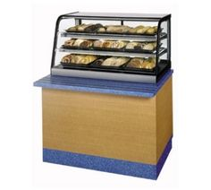 Federal Industries CD4828SS 48-in Counter Top Non-Refrigerated Self-Serve Merchandiser w/ Lift Up Doors, Each