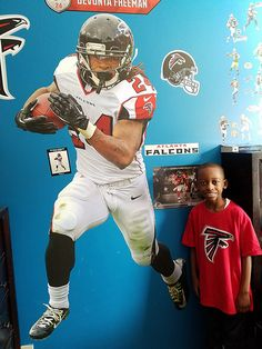 96dad9121 Football Bedroom. Thank you to our fan for showing off his love of the  Atlanta