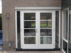 Mooie tuindeuren Art Deco Design, Metal Roof, Garages, Bed And Breakfast, Sliding Doors, Glass Door, Pergola, New Homes, Windows