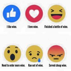 Wine emojicons
