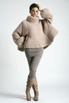 by Ermanno Scervino - pre-collection autumn winter Knitwear Fashion, Knit Fashion, Sweater Fashion, Mode Outfits, Casual Outfits, Fashion Outfits, Barbie Mode, Pullover Mode, Thick Sweaters