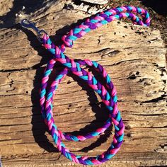 Paracord 3 Strand Flat Braid Dog Leash by EpicCustomCreations, $18.00