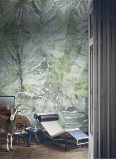 Nic tylko zgubić się w #dżungli razem z Marco Fontana i jego nowym wzorem #tapet… Barcelona Chair, Outer Space, Wall Design, Murals, Living Spaces, Sweet Home, Decorating Ideas, Wallpaper, Room