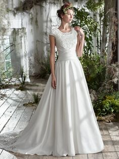 Maggie Sottero Jill - [Maggie Sottero Jill] - Buy a Maggie Sottero Wedding Dress from Bridal Closet in Draper, Utah Maggie Sottero Wedding Dresses, Wedding Dresses Plus Size, Modest Wedding Dresses, Bridal Dresses, Wedding Gowns, Bridesmaid Dresses, Sheath Dresses, 2nd Marriage Wedding Dress, Perfect Wedding Dress