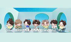 Bts Wallpaper Desktop, Cute Wallpapers, Tan Wallpaper, Jimin Fanart, Kpop Fanart, Bts Chibi, Anime Chibi, K Pop, Jikook