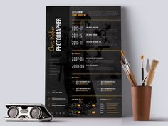 I will Design For You a killer infographic resume CV with Professional and Creatively design under 24 hours Place your order Now WITH CONFIDENCE. Resume Design Template, Cv Template, Resume Templates, Photographer Resume, Job Cv, Free Resume Examples, Infographic Resume, Creative Cv, Cv Design