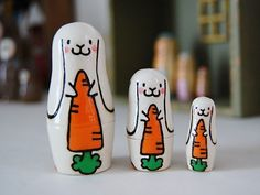 Bunny nesting dolls