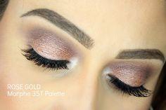 Rose Gold Makeup Tutorial   Morphe 35T Palette