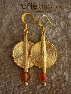 Aflé Bijoux African Earrings Carnalian Earrings #aflebijoux #bijoux #etsy #jewelry