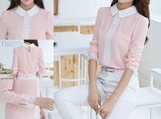 Camasa Rosalind-65 Lei #pinkshirt #longsleve #lace #whitelace #fashionista #elgant #onlineshop #trendy #clothes #feminine style #moda  #ordernow #linkinbio