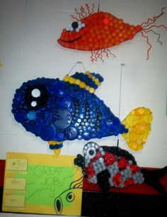 Art With Mr. E: Bottle Cap Fish