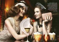 Gatsby: Filip Grudzewski, Julie and Kasia Slominska in The Great Gatsby by Maciej Bernas for Fashion Magazine 2012