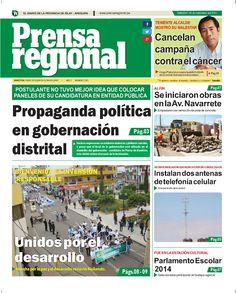 Prensa regional sábado 06 set