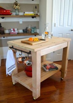 Cedar Kitchen Island - DIY Kitchen Island Cart Free Plans The Effective Pictures We Offer You About kitchen islands dimens - Kitchen Island On Wheels, Kitchen Island Cart, Kitchen Islands, Moveable Kitchen Island, Mobile Kitchen Island, Kitchen Trolley, Wall Table Diy, Cuisines Diy, Diy Kitchen Storage