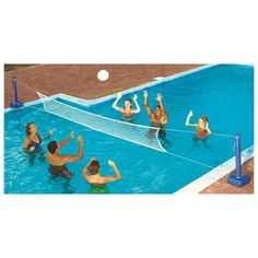 Pool Volleyball Game Swimming Volley Ball Fun Cross In Ground  Net Ball New #Swimline