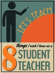Student teaching: an exciting, daunting, overwhelming and thrilling experience. These are the eight things I wish I knew when I was a student teacher. - pin for you or send the pin to a teacher friend Teacher Photo, Student Teacher, Teacher Hacks, School Teacher, Teacher Stuff, College Students, Education Major, Elementary Education, Teacher Education